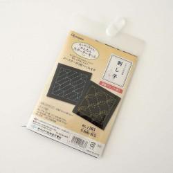 Kit sashiko débutant 2 dessous de verres motifs yabane et nowaki
