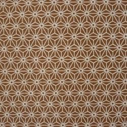 Tissu marron terre de sienne motif petit asanoha