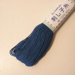 Fil bleu minéral pour broderie sashiko 40m (18)
