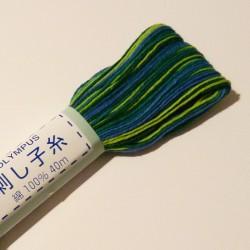 Fil mix de bleus pour sashiko 40m