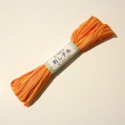 Fil mix jaune orange rose rouge pour sashiko 40m