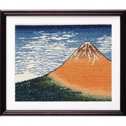 Kit point compté Le Fuji par temps clair par Hokusai