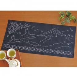Kit sashiko 1 centre de table Mont Fuji (35x75cm)