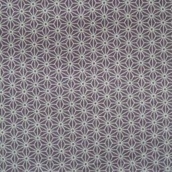 Tissu mauve motif petit asanoha