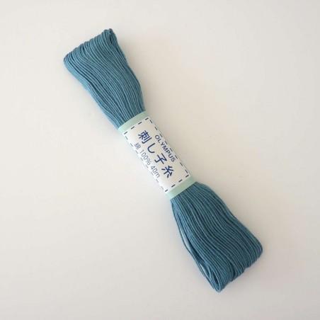 Fil bleu sarcelle pour broderie sashiko 40m