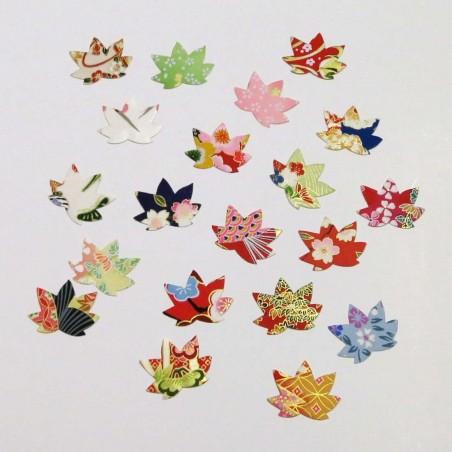 Autocollants en papier japonais feuilles d'érable