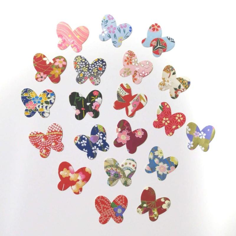 Autocollants en papier japonais papillons