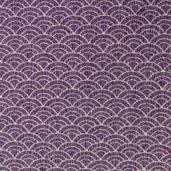 Tissu violet vagues japonaises