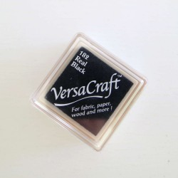 Encre mini Versacraft Real Black (182) pour tissu, bois ou papier