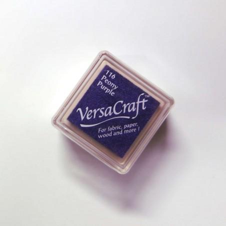 Encre mini Versacraft Peony Purple (116) pour tissu, bois ou papier