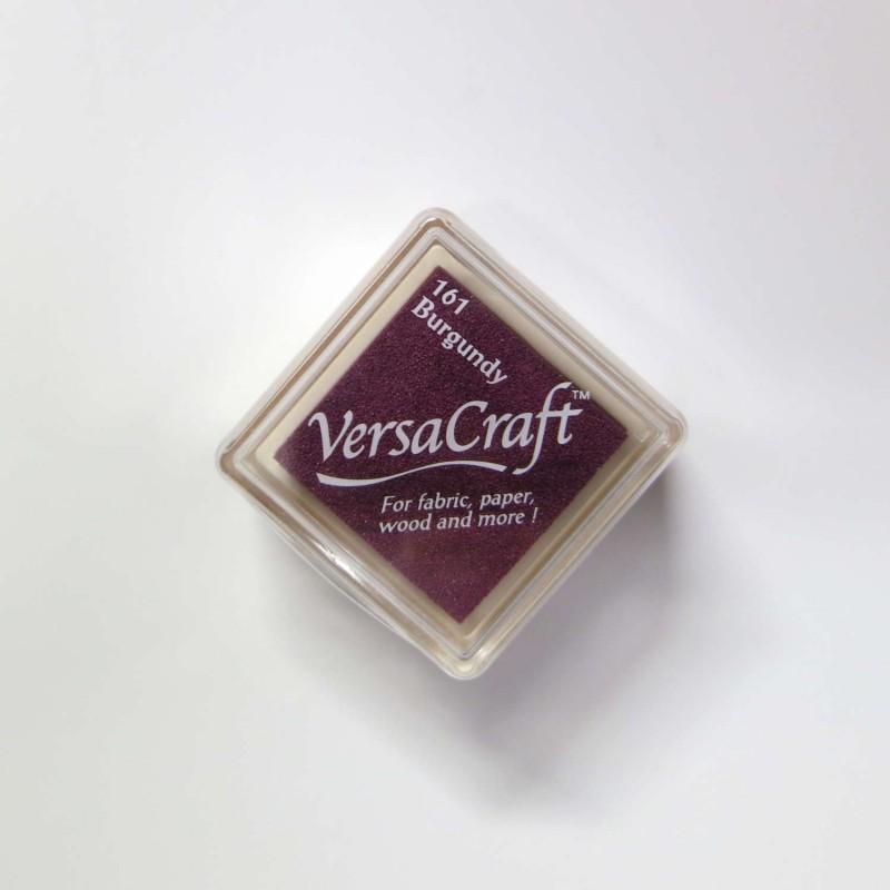 Encre mini Versacraft Burgundy (161) pour tissu, bois ou papier