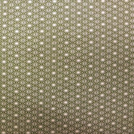 Japanese asanoha pattern khaki fabric