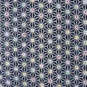 Tissu chirimen bleu nuit asanoha couleurs
