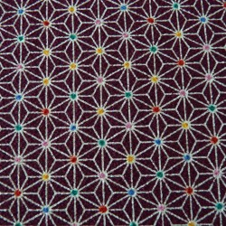Tissu chirimen violet asanoha couleurs