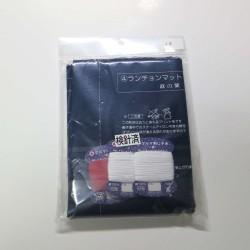 Kit sashiko 2 sets de table bleu nuit asanoha rouge et blanc