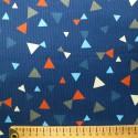 Velours côtelé bleu marine triangles rouges blancs gris bleus