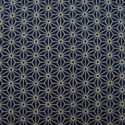 Tissu bleu foncé motif...