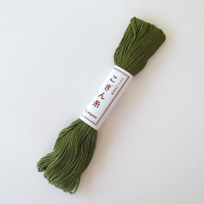 Fil vert véronèse pour broderie kogin 18m