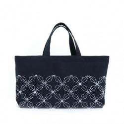 Kit sashiko petit sac tote motifs hanabishi et lapin