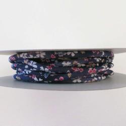 Cordon chirimen violet foncé fleurs 5mm diamètre vendu au mètre