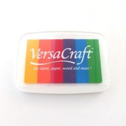 Encre Versacraft multicolore arc-en-ciel pour tissu, bois ou papier