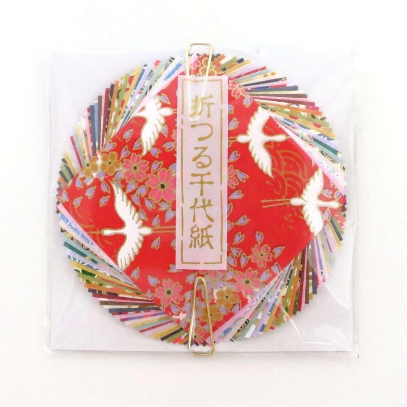 Papier origami japonais 6x6cm 20 unis 20 motifs