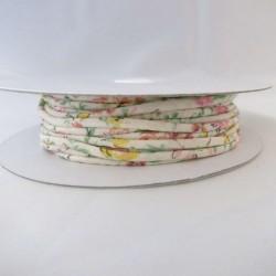 Cordon coton crème fleurs 2mm diamètre vendu au mètre