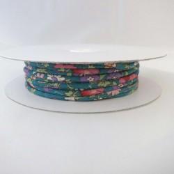 Cordon coton vert emeraude fleurs 2mm diamètre vendu au mètre