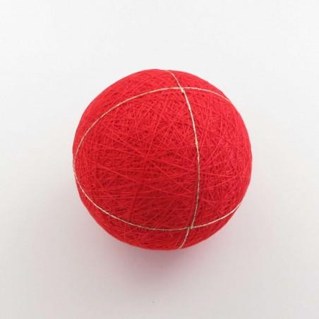 Balle temari rouge 4 divisions 9cm