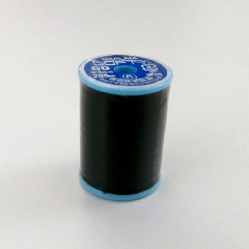 Fil noir polyester 200m tous usages