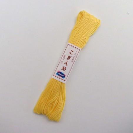 Fil jaune clair pour broderie kogin 18m (364)