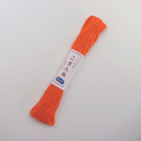 Fil orange pour broderie kogin 18m (173)