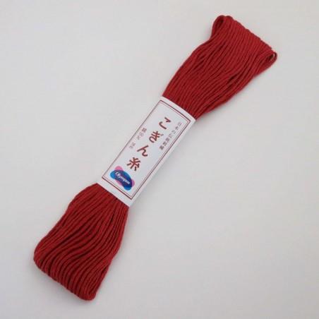 Fil brun rouge foncé (769) pour broderie japonaise kogin