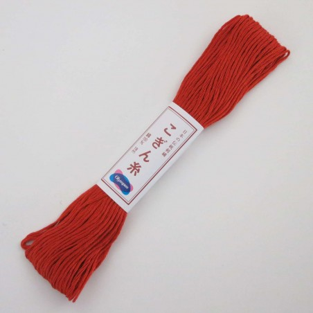 Fil brun rouge clair pour broderie kogin 18m (755)