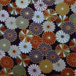 Tissu chrysanthèmes (kiku)...