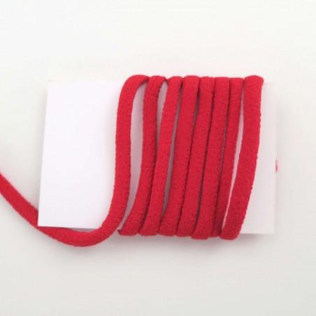 cordon chirimen rouge vif uni 5mm