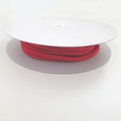 cordon chirimen rouge vif uni 5mm