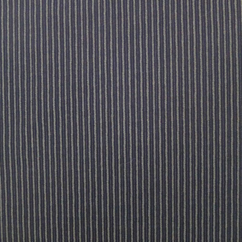 Tissu japonais bleu nuit indigo rayures