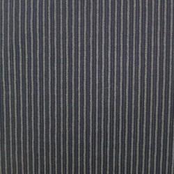 Tissu à rayures bleu nuit