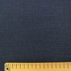 Tissu japonais bleu nuit indigo faux uni