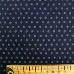 Tissu japonais bleu nuit indigo motifs pois