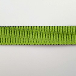 Sangle réversible vert lime et bleu nuit 25mm de large vendue au mètre pour anses de sacs
