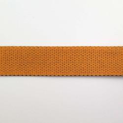 Sangle réversible orange vif et marron chocolat 25mm de large vendue au mètre pour anses de sacs