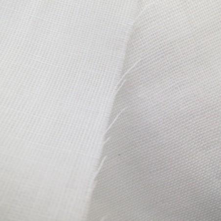 Tissu double gaze unie blanche