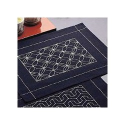 Kit sashiko 1 set de table motifs shippô