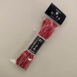 Fil blanc, rose et rouge foncé pour sashiko 100m (152)