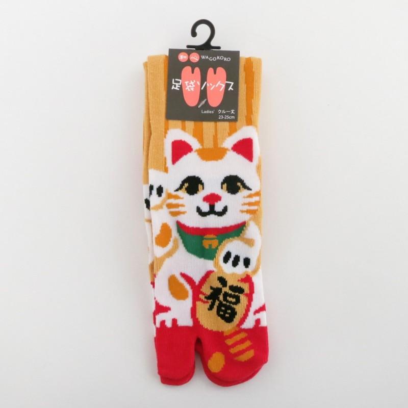 Chaussettes tabi manekineko pointure 35 à 38
