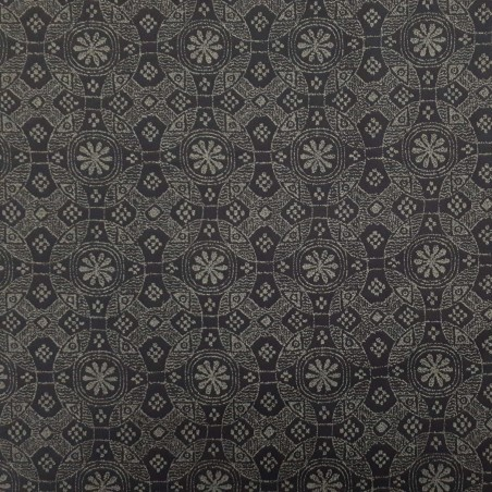 Tissu japonais bleu nuit motif ethniques