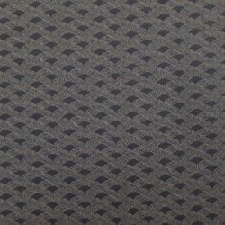 Tissu japonais bleu nuit motifs vagues en rangées de points