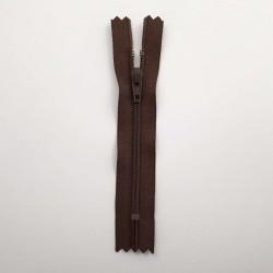 Fermeture glissière nylon 10cm chocolat non séparable